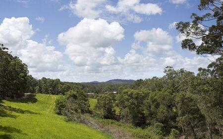 Landscape view of the Yandina hinterland in Queensland, Australia