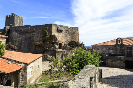 View of the 16th century (1510) town hall and prison at the foot of the castle in Sortelha, Portugal
