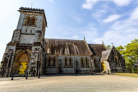 Photo pour Facade of the Anglican Church of All Saints, built in 1881 in the village of Bodalla, NSW, Australia - image libre de droit