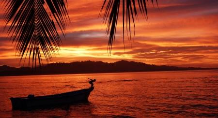 Sunset in Puerto Viejo Costa Rica