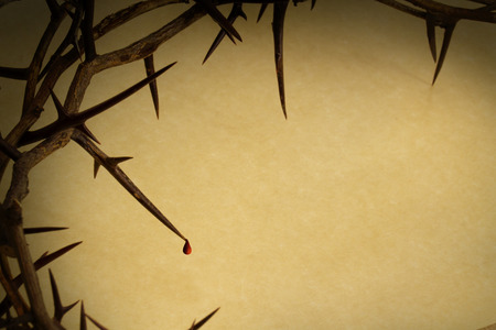 Crown Of Thorns With Drop Of Blood Represents Jesus Crucifixion on Good Friday