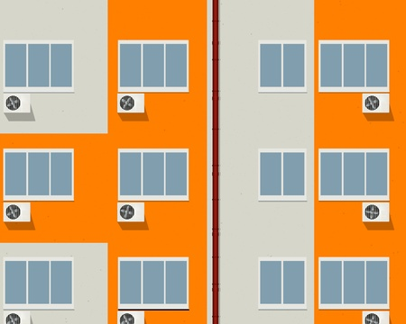 Block of flats - apartment building background