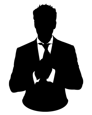 Illustration for Graphic illustration of man in business suit as user icon, avatar - Royalty Free Image