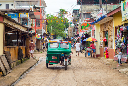 street view of Coron town in Palawan, Philippines.