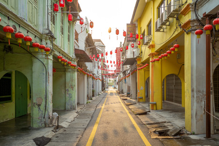 Ipoh, Malaysia - August 15, 2018: street view of Ipoh. Concubine Lane, or Yi Lai Hong, is a narrow and small lane located off Jalan Bandar Timah (Leech Street) in Old Town