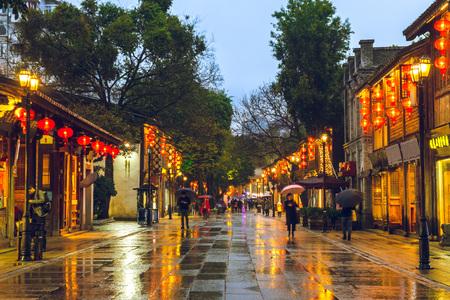 Foto de Sanfang Qixiang ancient town in fuzhou, china - Imagen libre de derechos