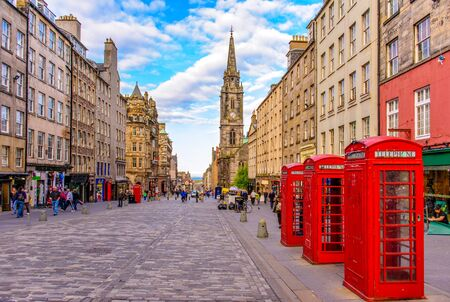 Foto de street view of Edinburgh, Scotland, UK - Imagen libre de derechos