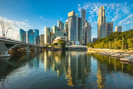 Photo for skyline of singapore by the marina bay - Royalty Free Image