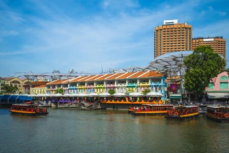 Photo for Clarke Quay by the Singapore River in singapore - Royalty Free Image