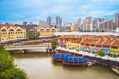 Photo for aerial view of Clarke Quay in singapore - Royalty Free Image