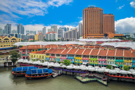Photo for Clarke Quay located at Singapore River Planning Area in singapore - Royalty Free Image