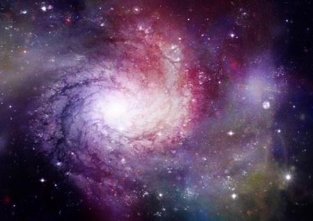 Far away spiral galaxy