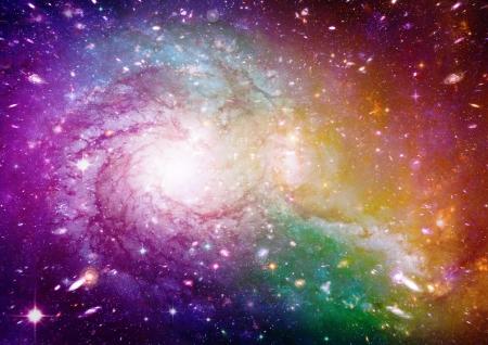 Multicolored Spiral Galaxy