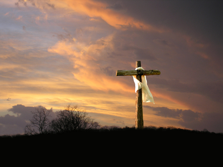 Photo for Cross with Sunrise - Royalty Free Image