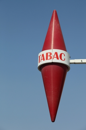 Tabac sign in France