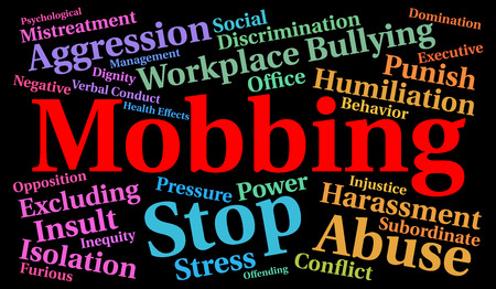 Photo for Mobbing word cloud concept - Royalty Free Image