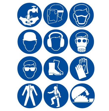 Foto de Safety signs at work - Imagen libre de derechos