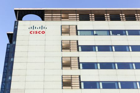 Copenhagen, Denmark - September 10, 2017: Cisco Systems building in Copenhagen. Cisco Systems is an American multinational technology conglomerate headquartered in San Jose, California