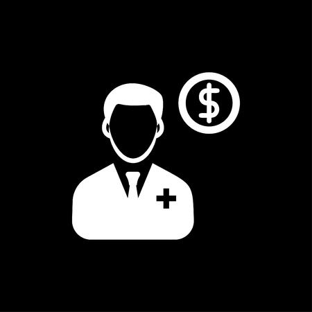 Doctor Finance Icon White