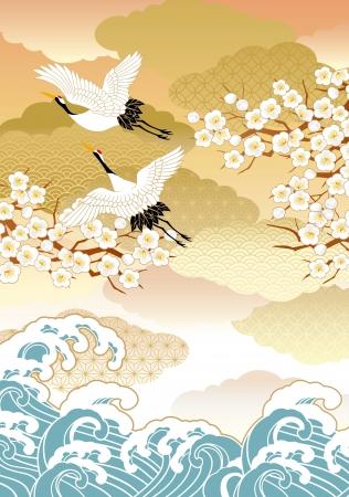 Pattern of beautiful kimono