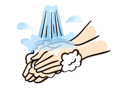 Washing hands cleanly