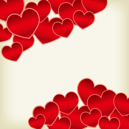 Illustration pour Cute heart material - image libre de droit