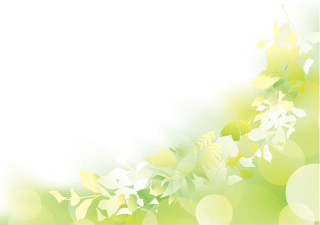 Illustration pour Fresh green in the light - image libre de droit
