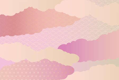 Illustration pour It is a background illustration image of a beautiful Japanese pattern in Japan. - image libre de droit