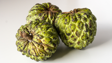 Custard Apple (Sweetsop, Annona Reticulata, Sitaphal ) Isolated on White Background