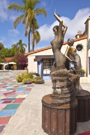 Spanish Village in Balboa Park art and craft exhibits San Diego California