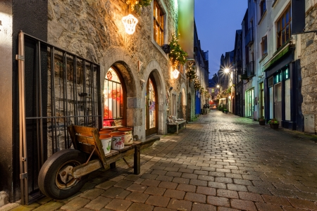 Old street in Galway city