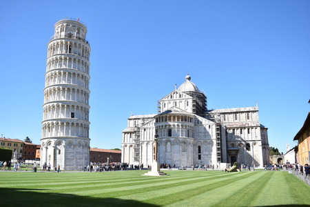Tower of Pisa and Cathedral in Piazza dei Miracoli - Pisa