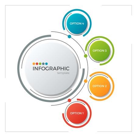 Ilustración de Circle chart infographic template with 5 options - Imagen libre de derechos