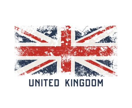Ilustración de United Kingdoml t-shirt and apparel design with grunge effect. - Imagen libre de derechos