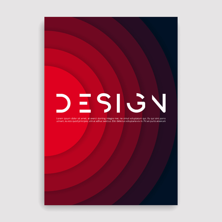 Illustration for Brochure cover geometric design template. - Royalty Free Image