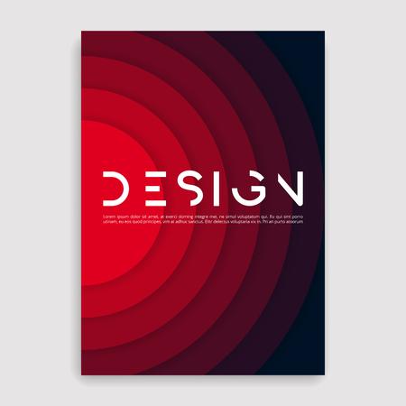 Illustration pour Brochure cover geometric design template. - image libre de droit