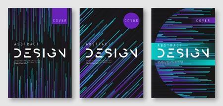 Illustration pour Abstract gradient geometric cover designs - image libre de droit