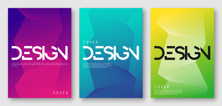 Illustration pour Abstract gradient geometric cover designs - image libre de droit