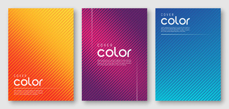 Ilustración de Abstract gradient geometric cover designs - Imagen libre de derechos