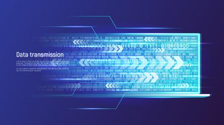 Foto de Data transmission technology concept. Vector illustration. - Imagen libre de derechos