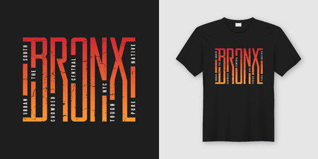 Illustration pour The Bronx stylish t-shirt and apparel design, typography, print, - image libre de droit