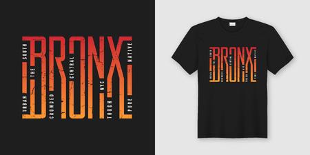 Ilustración de The Bronx stylish t-shirt and apparel design, typography, print, - Imagen libre de derechos