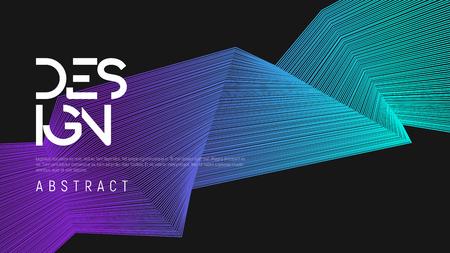Illustration pour Abstract gradient geometric design, colorful minimalist background. Vector illustration. - image libre de droit