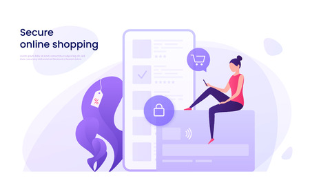 Illustration for Secure online shopping - Royalty Free Image