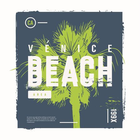 Venice beach vector graphic t-shirt design, poster, print