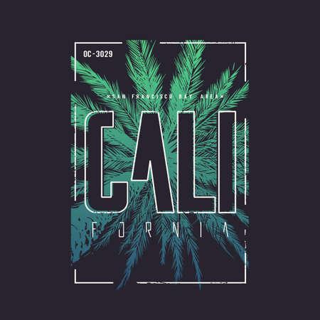 Illustration for California San Francisco vector t-shirt design, poster, print. - Royalty Free Image