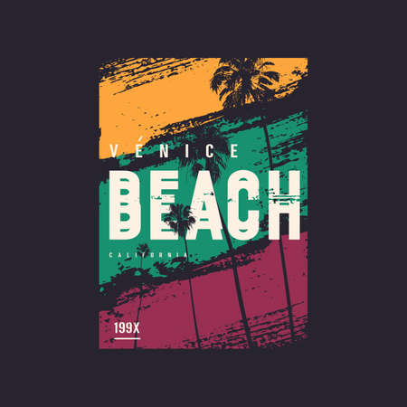 Venice beach California vector t-shirt design, poster, print