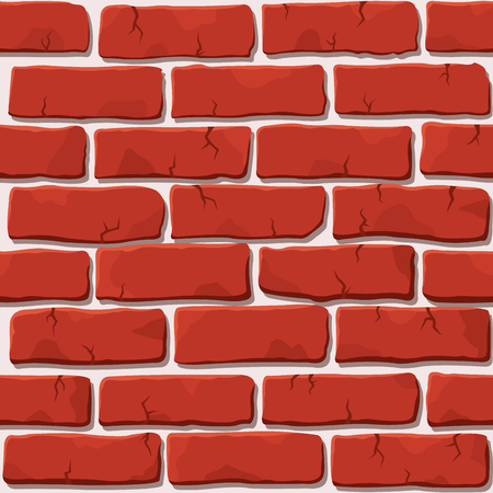 Illustration for Nice vector red brick wall - Royalty Free Image