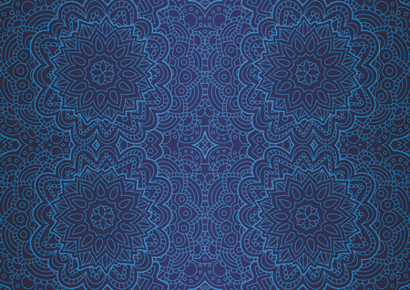 Illustration pour Beautiful blue art with abstract seamless blue linear pattern - image libre de droit