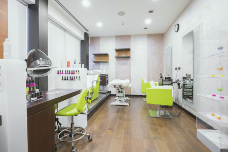 Modern beauty salon interiorの写真素材